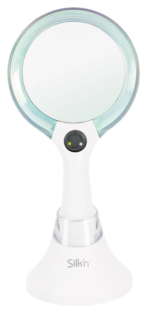 Silk n mirrorlumi led spiegel agetech gmbh for Spiegel zum aufstellen